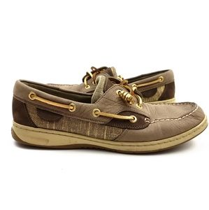 Sperry Ivyfish Metallic Top-Sider Boat Shoes SZ 9